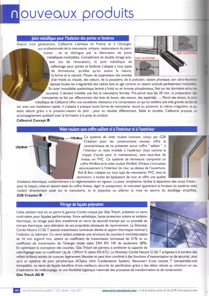 Article etancheite portes fenetres joints m talliques for Fenetre isolation